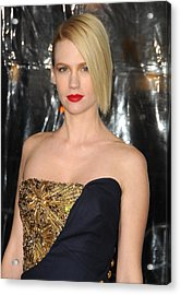 January Jones At Arrivals For Unknown Acrylic Print by Everett
