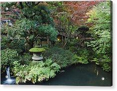 Japan Tokyo Japanese Garden Acrylic Print by Rob Tilley