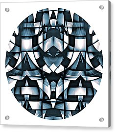 Acrylic Print featuring the digital art Japan by Visual Artist Frank Bonilla