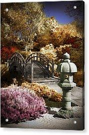 Japanese Foot Bridge Acrylic Print by Patrick Pope