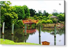 Japanese Reflections Acrylic Print by Therese Alcorn