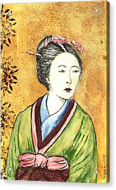 Japanese Woman Acrylic Print by Pegeen  Shean