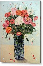 Jasmine Acrylic Print by HHolly Bazmi