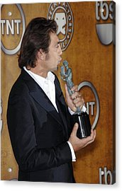 Javier Bardem At Arrivals For Press Acrylic Print by Everett