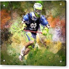 Jaxx Lacrosse 2 Acrylic Print by Scott Melby