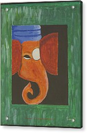 Acrylic Print featuring the painting Jay Ganesh by Sonali Gangane