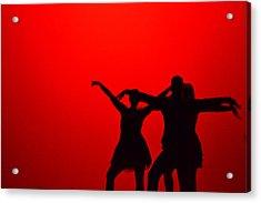 Jazz Dance Silhouette Acrylic Print