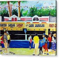 Jazz Fest Food Acrylic Print by Terry J Marks Sr