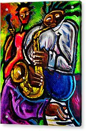 Jazz Groove Acrylic Print by Kevin McDowell