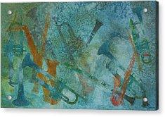 Jazz Improvisation One Acrylic Print by Jenny Armitage