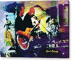 Jazz Scene Acrylic Print by Sadie Reneau