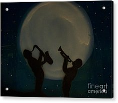 Jazzing At The Moon Acrylic Print