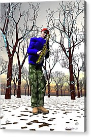 Jazzmas In The Park 3 Acrylic Print by Walter Oliver Neal