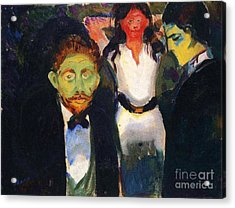 Jealousy Acrylic Print by Pg Reproductions
