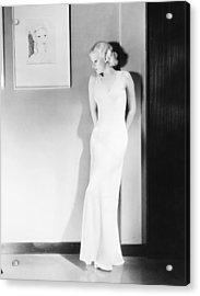 Jean Harlow (1911-1937) Acrylic Print