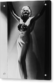 Jean Harlow, 1935 Acrylic Print by Everett