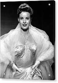 Jean Peters, Ca. Mid-1950s Acrylic Print by Everett