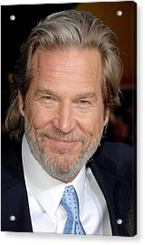 Jeff Bridges At Arrivals For Premiere Acrylic Print by Everett