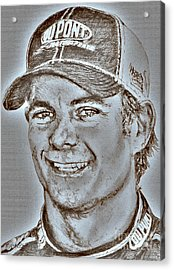 Jeff Gordon In 2010 Acrylic Print by J McCombie