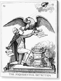 Jefferson: Cartoon, 1800 Acrylic Print by Granger