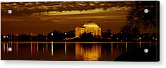 Jefferson Memorial - Panoramic Acrylic Print by David Hahn