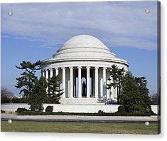 Jefferson Memorial - Washington Dc Acrylic Print by Brendan Reals