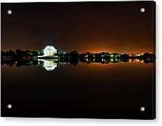 Jefferson Memorial Before Sunrise 1 Acrylic Print by Val Black Russian Tourchin