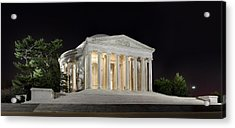 Jefferson Memorial Acrylic Print by Metro DC Photography