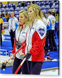 Jennifer And Cathy Acrylic Print by Lawrence Christopher