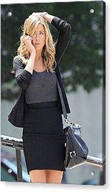 Jennifer Aniston On Location Acrylic Print by Everett
