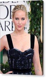 Jennifer Lawrence Wearing A Louis Acrylic Print by Everett