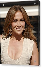 Jennifer Lopez At The Press Conference Acrylic Print by Everett