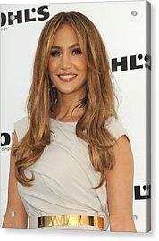 Jennifer Lopez Wearing A Gucci Dress Acrylic Print