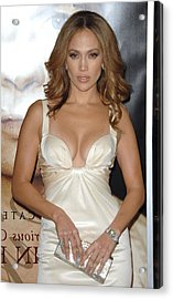 Jennifer Lopez Wearing A Roberto Acrylic Print by Everett