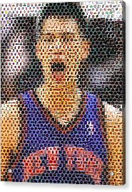 Jeremy Lin Mosaic Acrylic Print by Paul Van Scott