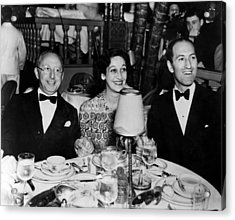 Jerome Kern, Dorothy Fields, George Acrylic Print by Everett