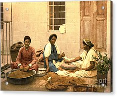 Jerusalem Women Grinding Corn 1895 Acrylic Print by Padre Art