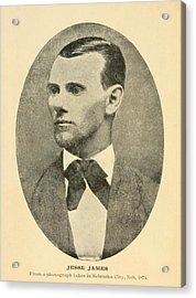 Jesse James 1847-1882 Acrylic Print by Everett