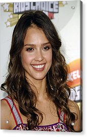 Jessica Alba At Arrivals For 2007 Acrylic Print