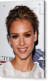 Jessica Alba At Arrivals For African Acrylic Print