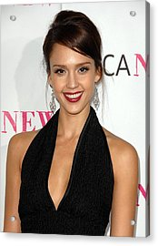 Jessica Alba At Arrivals For Moca 30th Acrylic Print by Everett