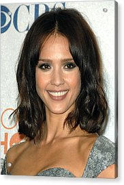 Jessica Alba In The Press Room Acrylic Print