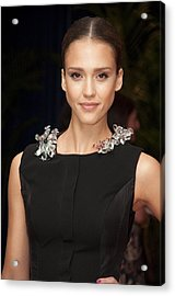 Jessica Alba Wearing A Marios Schwab Acrylic Print