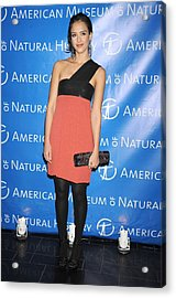 Jessica Alba  Wearing A Narciso Acrylic Print by Everett