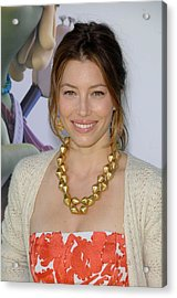 Jessica Biel At Arrivals For Planet 51 Acrylic Print by Everett