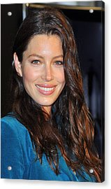 Jessica Biel At In-store Appearance Acrylic Print