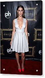 Jessica Lowndes At Arrivals For Jessica Acrylic Print