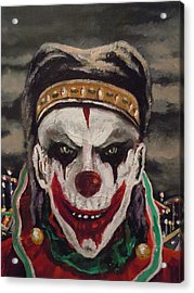Acrylic Print featuring the painting Jester's Night by James Guentner