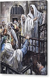 Jesus  Acrylic Print by Henry Coller
