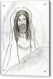 Jesus In Cave Acrylic Print by Sonya Chalmers